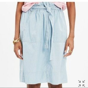 Madewell Denim Tie Waste Skirt